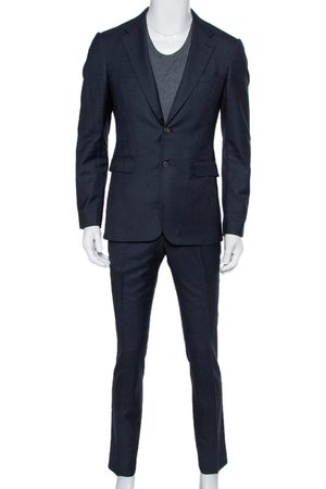 Burberry Navy Wool Formal Suit M