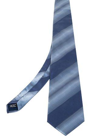 Lanvin Diagonal Striped Silk Tie