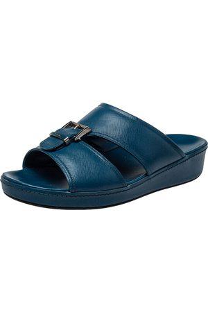 Prada Saffiano Leather Slide Sandals Size 41.5