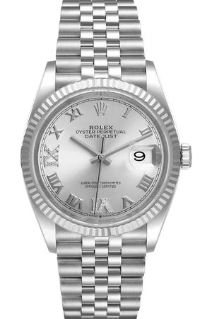 Rolex Diamonds 18K White Gold And Stainless Steel Datejust 126234 Men's Wristwatch 36 MM