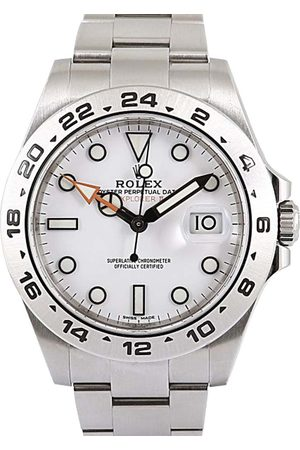 Rolex Stainless Steel Explorer II Men's Wristwatch 42 MM
