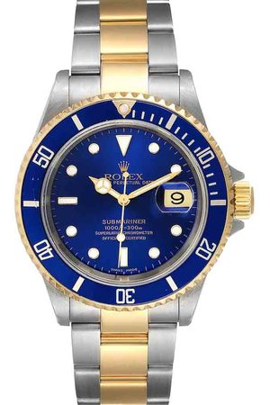 Rolex 18K Yellow Gold And Stainless Steel Submariner 16613 Automatic Men's Wristwatch 40 MM