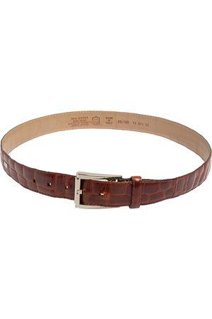 Gianfranco Ferré Crocodile Leather Buckle Belt 105CM