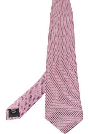 Ermenegildo Zegna Geometric Patterned Silk Tie