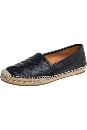 Gucci Ssima Leather Flat Espadrilles Size 39