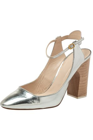 Chloé Leather Ankle Strap Block Heel Sandals Size 40.5