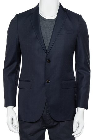 Gucci Navy Dotted Wool Button Front Blazer S