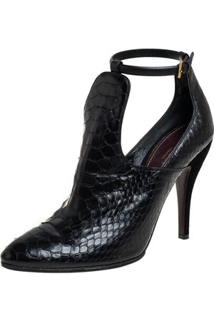 Gucci Python Leather Ankle Boots Size 41.5
