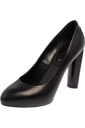 Céline Leather Block Heel Pumps Size 37