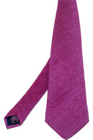 Etro Striped Cashmere Silk Tie