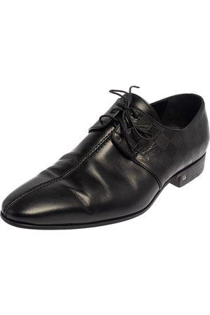 LOUIS VUITTON Damier Leather Lace Up Oxfords Size 43