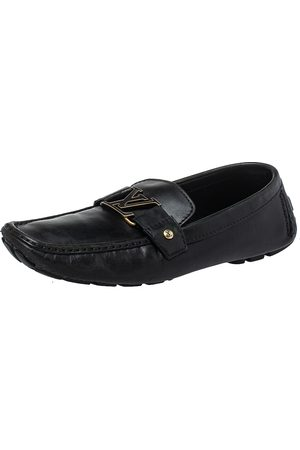 LOUIS VUITTON Leather Monte Carlo Loafers Size 42.5