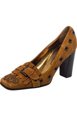 Dolce & Gabbana Suede Block Heel Pumps Size 37
