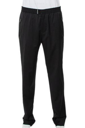 Emporio Armani Wool Elasticized Waist Straight Fit Trousers XL