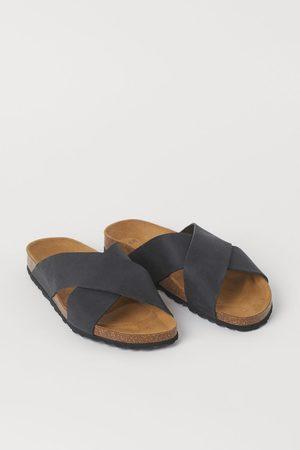 H&M Leather Slides