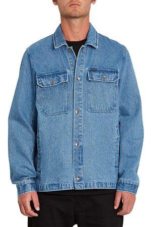 Volcom Men Denim Jackets - Likeaton Jacket XL Denim