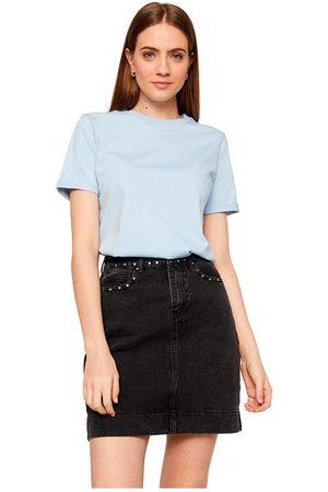 Pieces Women Short Sleeve - Ria Short Sleeve Fold Up Solid T-shirt L Kentucky