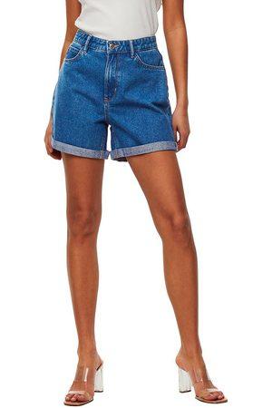 ONLY Women Shorts - Vega Life High Waist Mom Denim Shorts M Medium Denim