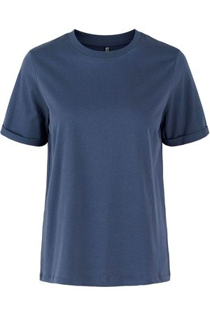 Pieces Ria Fold Up Solid Short Sleeve T-shirt M Ombre