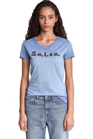 Salsa Women Short Sleeve - Logo In Beads Short Sleeve T-shirt S