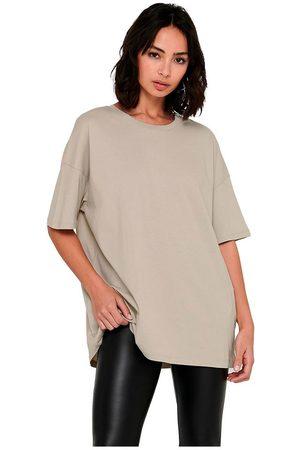 ONLY Aya Life Oversized Short Sleeve T-shirt L Humus