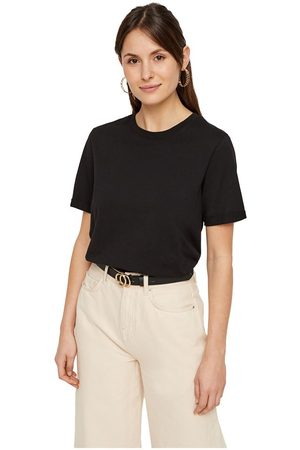 Pieces Ria Fold Up Solid Short Sleeve T-shirt S