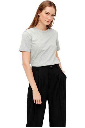 YAS Women Short Sleeve - Sarita Short Sleeve T-shirt M Light Grey Melange