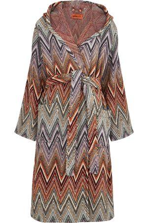 Missoni Yari zigzag cotton-terry robe