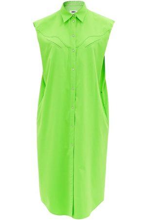 MM6 MAISON MARGIELA Sleeveless Flannel Shirt Dress - Womens