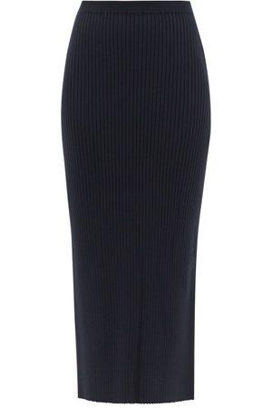 MM6 MAISON MARGIELA Women Pencil Skirts - Rib-knitted Pencil Skirt - Womens - Navy