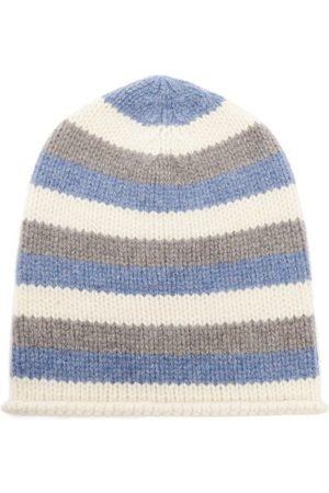 THE ELDER STATESMAN Lil' Lookout Striped Cashmere Beanie Hat - Womens - Multi