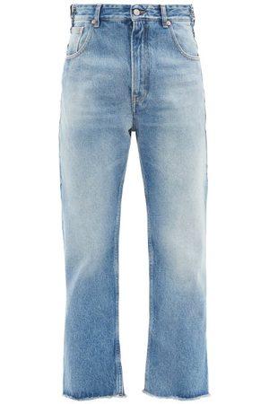 Mm6 Maison Margiela Washed High-rise Boyfriend Jeans - Womens - Light Denim