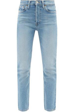 RE/DONE 90s High-rise Slim-leg Cropped Jeans - Womens - Light Denim