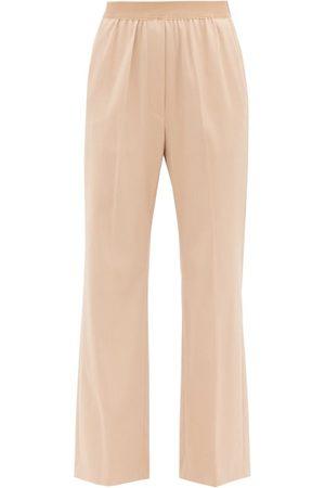 MM6 MAISON MARGIELA Elasticated-waist Fresco Trousers - Womens - Light