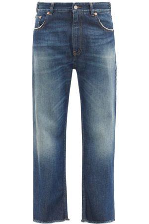 MM6 MAISON MARGIELA Washed High-rise Boyfriend Jeans - Womens - Mid Denim