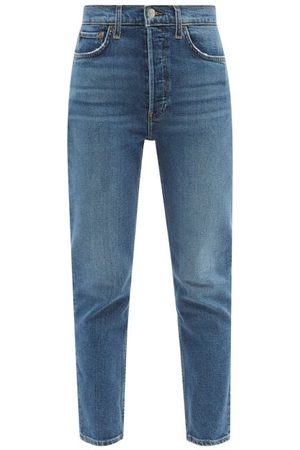 RE/DONE 90s High Rise Ankle Crop Jeans - Womens - Mid Denim