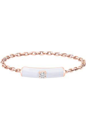 DJULA White enamel chain ring