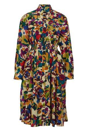 Kenzo Women Printed Dresses - PRINTED WAISTED SHIRTING DRESS
