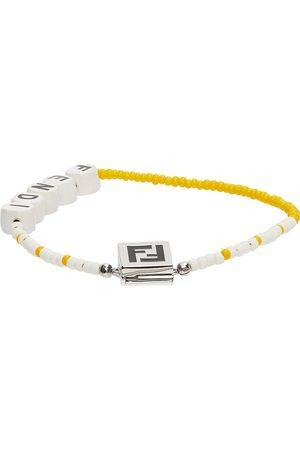 Fendi Yellow & White Beaded 'Forever ' Bracelet