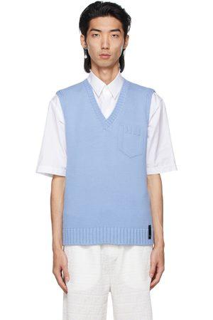 Fendi Blue Embossed Logo Vest