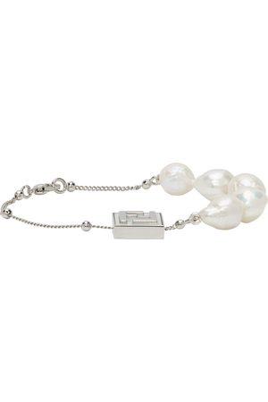 Fendi Silver Pearl 'Forever ' Bracelet