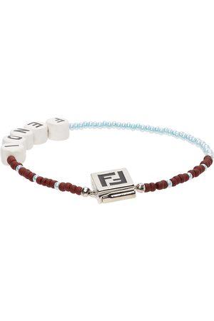 Fendi Blue & Brown Beaded 'Forever ' Bracelet
