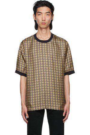 Fendi Gold Silk 'Forever ' Print T-Shirt