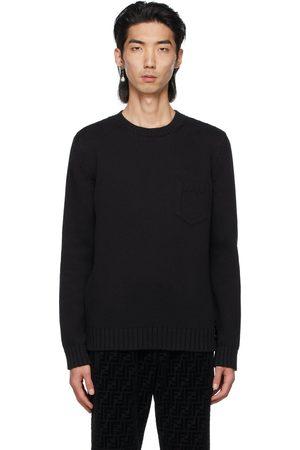 Fendi Black Embossed Pocket Sweater