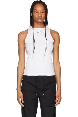 Nike Women Sports T-shirts - White Sportswear Essential Tank Top