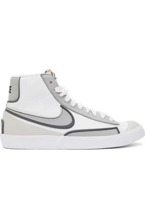 Nike White & Grey Blazer Mid '77 Infinite Sneakers