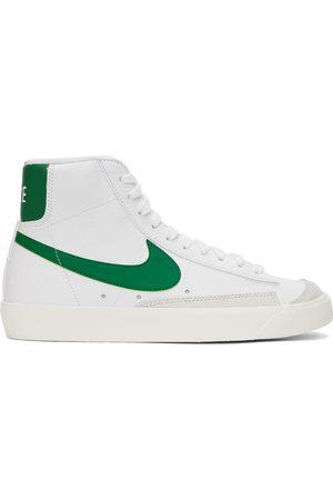Nike White & Green Blazer Mid '77 Vintage Sneakers