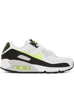 Nike White & Green Air Max 90 Sneakers