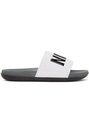 Nike White Offcourt Slides