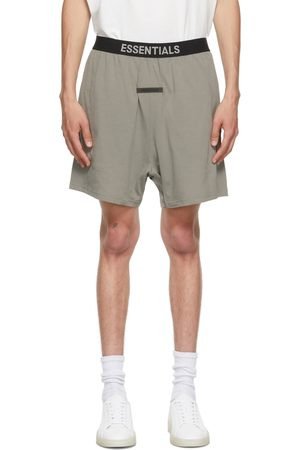 Essentials Grey Logo Lounge Shorts